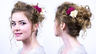 Romantic Updo for Curly Hair
