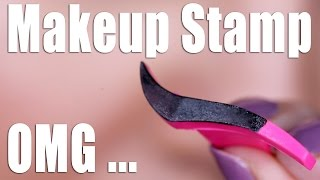 WINGED EYELINER STAMP ... OMG!