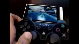 Sony Xperia S connected to PS3 Sixaxiss!