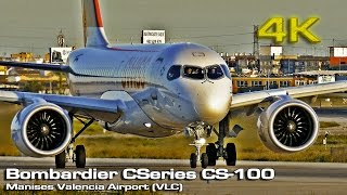 Bombardier CS100 Swiss (Close View) [4K]