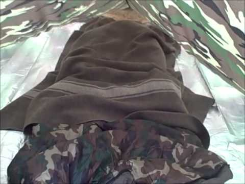 Bushcraft USA Tarp (10x10) and My Bed Setup