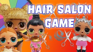 LOL Surprise Dolls Plays Disney Princess Spin the Wheel Hair Salon Game! Starring Queen Bee!