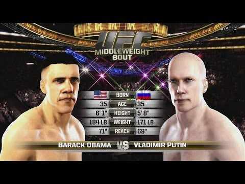 Barack Obama vs Vladimir Putin Celebrity Death Match MMA UFC EA SPORTS