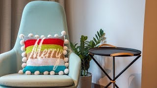 How to Crochet a Pillow: Merry and Bright CAL Part One