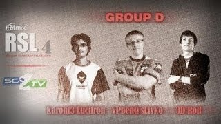 3DRoll vs K3LucifroN: Ritmix RSL 4 Group D - [Starcraft II]
