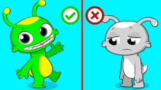 Groovy The Martian educational videos | Learning the emotions with funny songs for kids