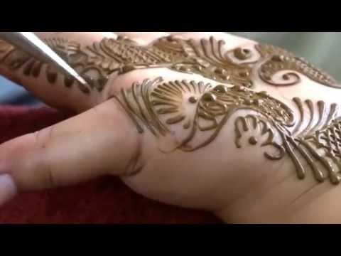 Indo Arabian Modern Henna Mehndi Tattoo Design With Heavy Fingers 2015