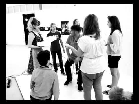 Pupils and their teacher Richard from Valuas College  shooting themselves during my live atelier at