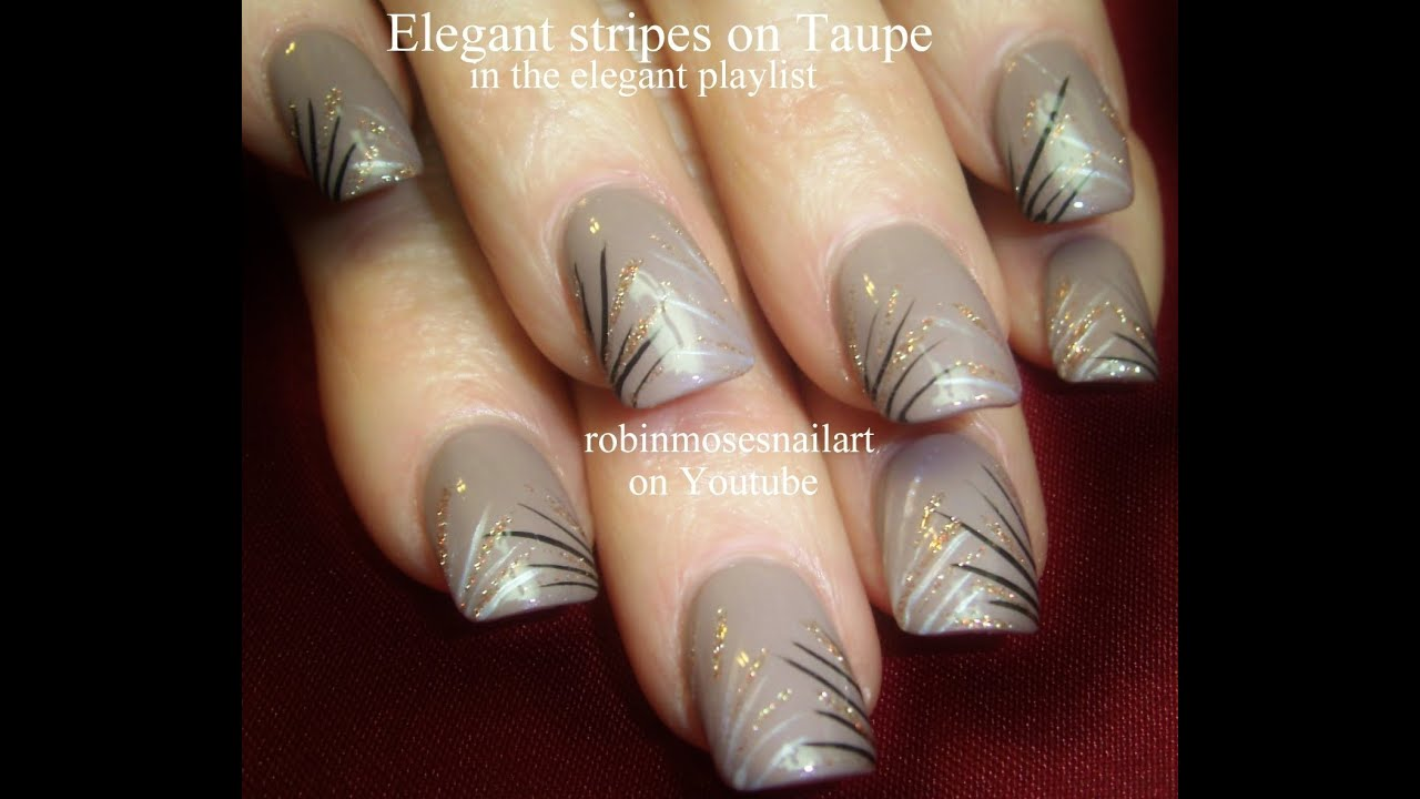 Simple Elegant Fall Nail Designs: DIY Easy Nail Art For Beginners!!!