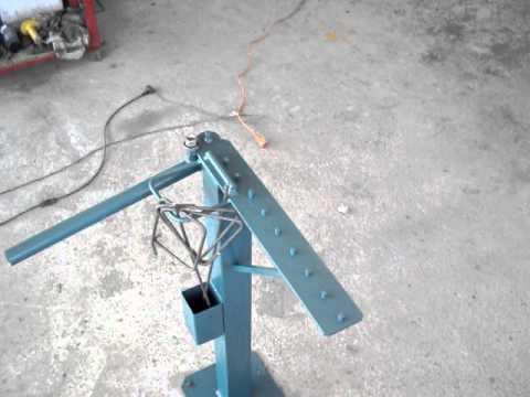 dobladora de triangulos de alambron