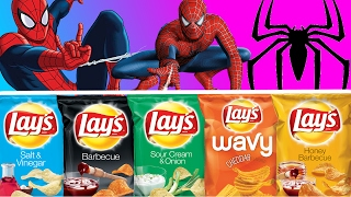 Learn Colors With Potato Chips for Toddlers and Babies With SPIDERMAN   Learn Colours