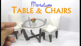 Dining Table and Chairs Tutorial for Dollhouse Dolls and Miniature (How to Make)