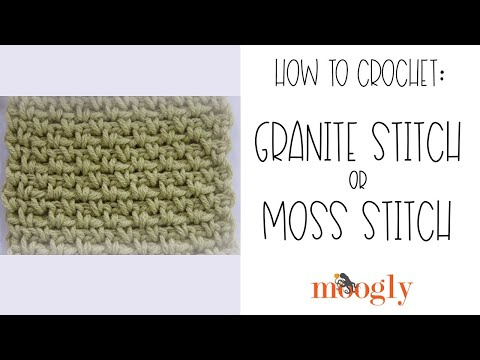 How To Crochet Granite Stitch Or Moss Stitch Youtube