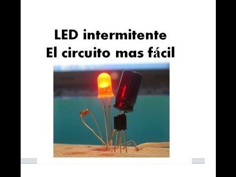 LED Intermitente, el mas facil de armar con solo un transistor