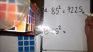 MATH TRICK SQUARE NUMBERS ENDING IN 5 AND MULTIPLY NUMBERS BY 11