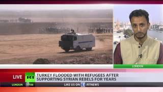 'Turkey opens border to death squads to fight in Syria, blocks Kurds battle ISIS' Image