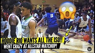 HOODIE RIO TOYING WITH DEFENDERS IN ISO BATTLE!! TEAM RIO VS TEAM YURI ALLSTAR GAME!