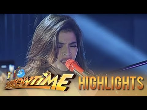 Anne Curtis belts out 'Chandelier' on It's Showtime