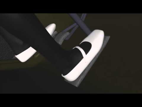 Girl cranking car pedal pumping in white ballet flats black stockings (pedal test 2 & 3 remix)