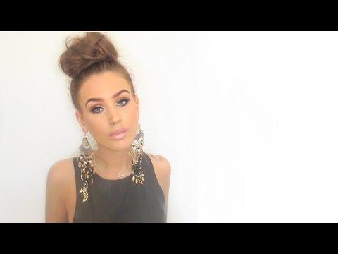 ♡ Nicole Richie & Kourtney Kardashian braided updo's | hair tutorial ♡