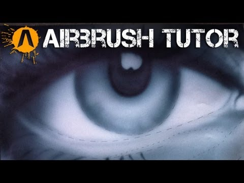 Airbrushing the eye