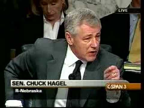 Chuck Hagel comments on Iraq resolution: 01.24.07