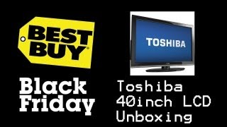 Toshiba 40 LCD 40E220U Black Friday Unboxing!