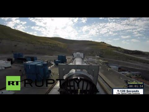 فيديو: ناسا تختبر معزز الدفع لأقوى صاروخ في العالم