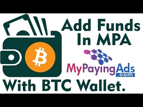 How to Add Funds in MPA with BTC wallet - My paying Ads- Hindi