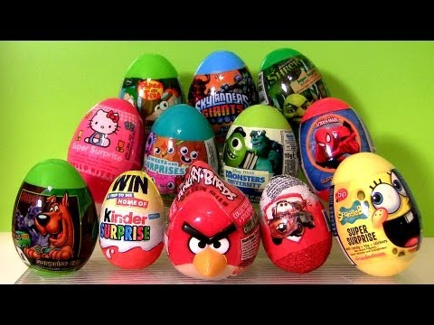 Angry Birds 12 Toy Surprise SHREK CARS MOSHI Spongebob Spiderman Disney Monsters University