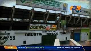 """Ernesto Campos El Trotaestadios en el Súper Estadio. El Agustín """"Coruco"""" Díaz"""