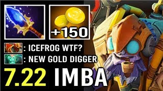 NEW IMBA TALENT 7.22 Scepter Tinker +150 GPM Gold Digger CRAZY FAST HAND by ghost 900 GPM Dota 2