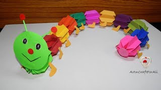 crafts for kids ( caterpillar ) | paper toys
