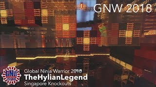 TheHylianLegend at the Singapore Knockouts Course - Global Ninja Warrior 2018