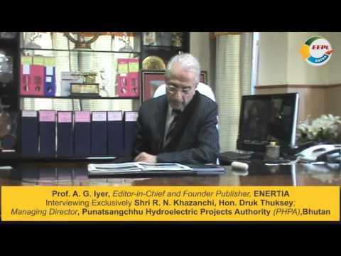 Hon.Druk Thuksey, R. N. Khazanchi, MD, PHPA, Bhutan - with Prof. A. G. Iyer on ENFRAtv - ENFRA Show
