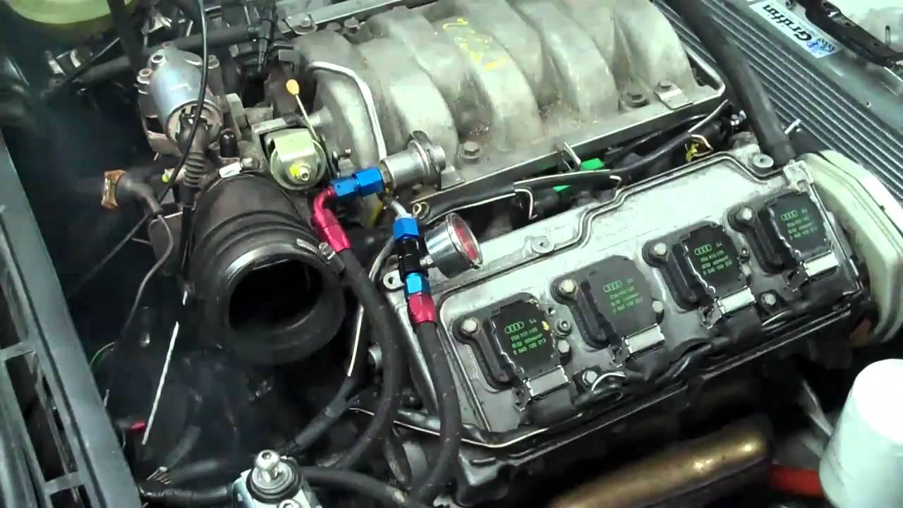 Audi Coupe Quattro 4 2 V8 First Start Youtube