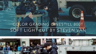 "Color Grading Cinestill 800T Film with  FREE ""Soft Light"" LUT By Steven Van"