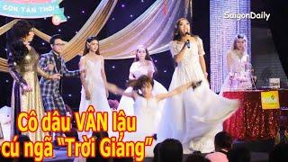 Lô tô show: Cú ngã 'trời giáng' của cô dâu Phi Thanh Vân lậu