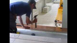 Installing Engineered Hardwood Floor: Laying First 3 Rows