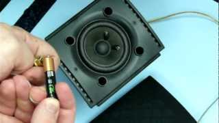 Speaker wire color check and test