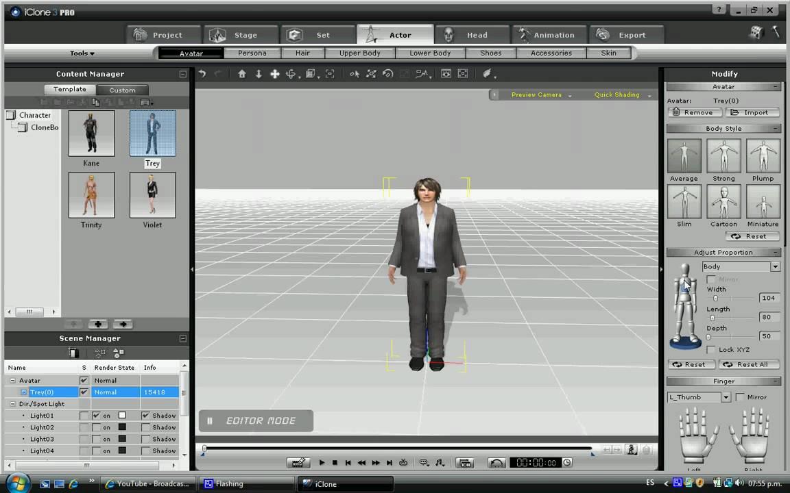 Iclone es un software para hacer peliculas en 3d youtube for Programa para dibujar en 3d