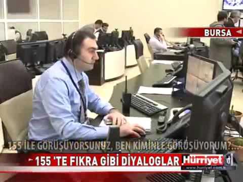 Bursa 155'te komik telefon kayıtları