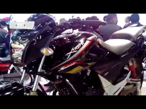 Hero Xtreme Sports Black at 12th Auto Expo 2014 The Motor Show Greater Noida