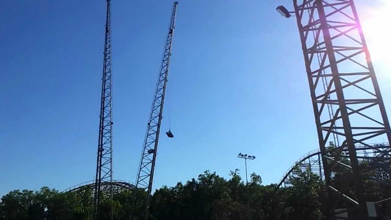 The Big Swing At Six Flags Youtube
