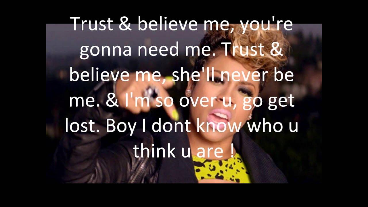 Trust a try lyrics