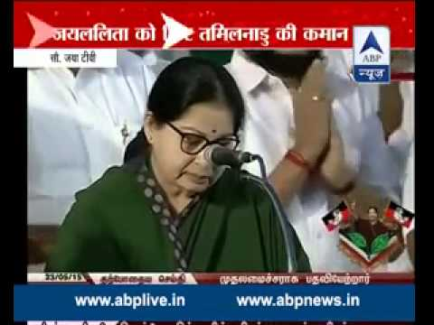 Jayalalithaa takes oath, becomes CM for the fifth time