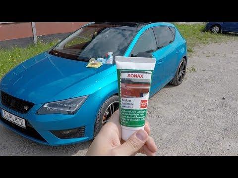 Sonax Kratzerentferner Nano Pro - Kunststoffblenden Polieren - Test - Seat Leon 5F