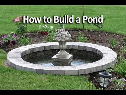 How to Build an In-Ground or Below Ground Pond