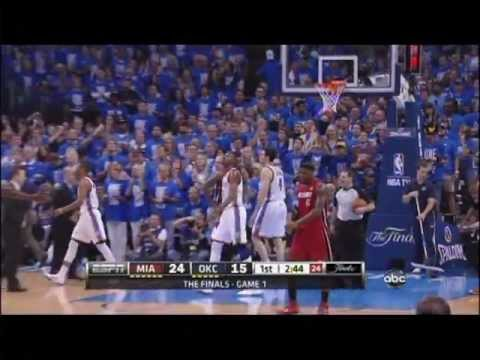 Kevin Durant blocks Dwyane Wade, scores and one