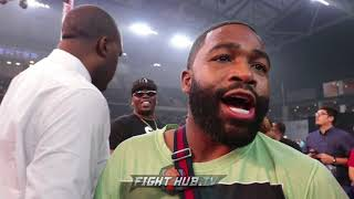 ADRIEN BRONER WALKS AWAY FROM INTERVIEW AFTER SHAWN PORTER QUESTION